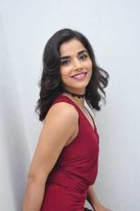 Telugu Actress Aparna Bajpai in Red Dress Stills