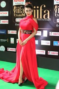 Actress Apoorva in Red Dress Stills at IIFA Utsavam 2017 (Day 1)