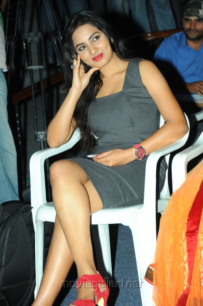 Telugu Actress Srushti at April Fool Movie Audio Release Photos