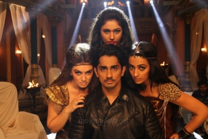 Hansika Motwani, Poonam Bajwa, Trisha, Siddharth in Aranmanai 2 Movie Stills