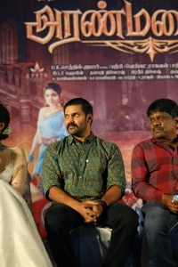 Actor Arya @ Aranmanai 3 Press Meet Stills