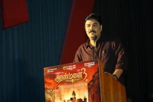 Director Sundar C @ Aranmanai 3 Press Meet Stills