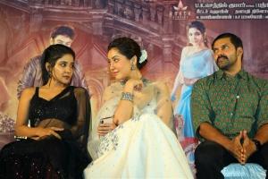Sakshi Agarwal, Raashi Khanna, Arya @ Aranmanai 3 Press Meet Stills