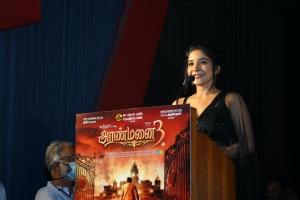 Sakshi Agarwal @ Aranmanai 3 Press Meet Stills