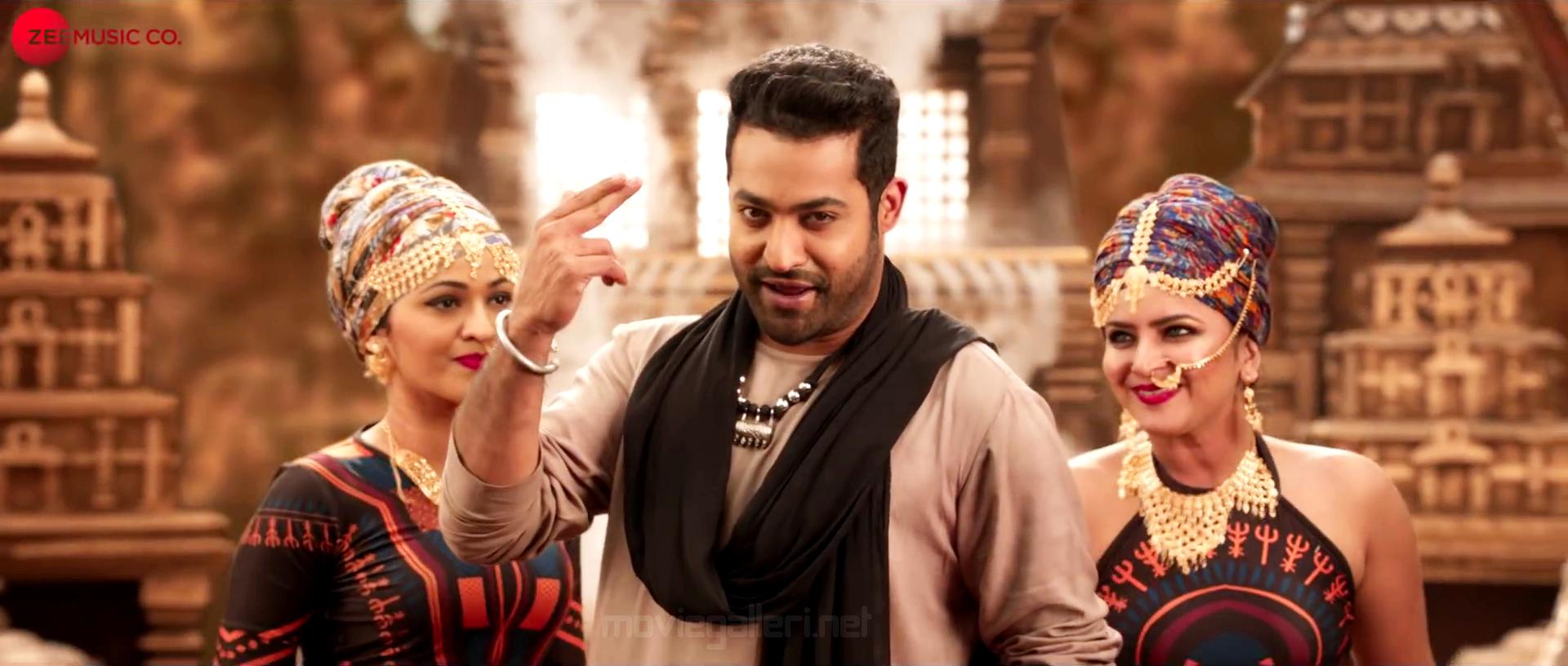 Actor Jr NTR in Aravinda Sametha Reddy Ikkada Soodu Song HD Stills