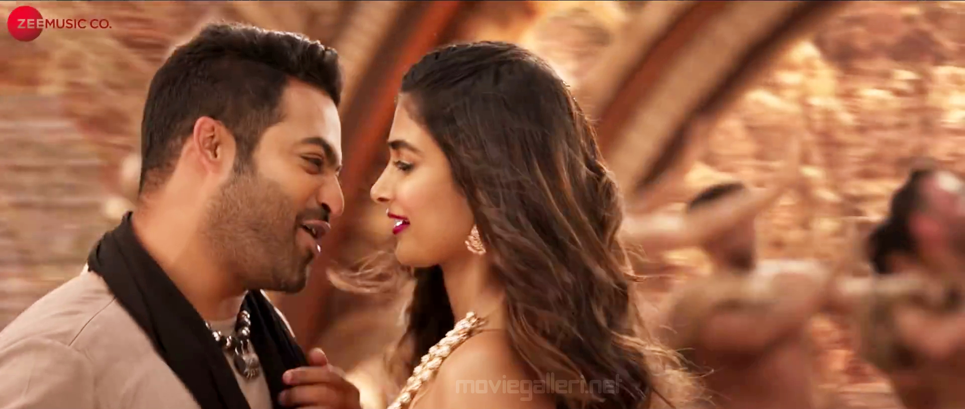 Jr NTR, Pooja Hegde in Aravinda Sametha Reddy Ikkada Soodu Song HD Stills