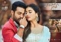 Jr NTR, Pooja Hegde in Aravinda Sametha Theater Cards HD Wallpapers
