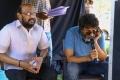 S Radha Krishna, Trivikram Srinivas @ Aravinda Sametha Working Stills HD