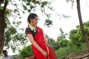 Actress Archana Veda Sastry Hot Red Saree Stills
