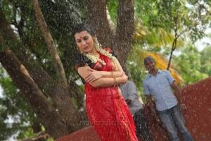 Actress Veda Archana Hot in Red Saree @ Kamalatho Na Prayanam