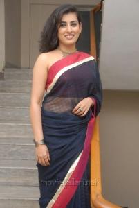 Archana Veda in Black Saree Hot Pics