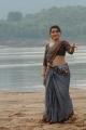 Kamalatho Naa Prayanam Archana Photos in Grayish Blue Cotton Saree