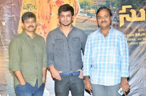Akella Rajkumar, Nikhil, Tagore Madhu @ Arjun Suravaram Movie Press Meet Stills