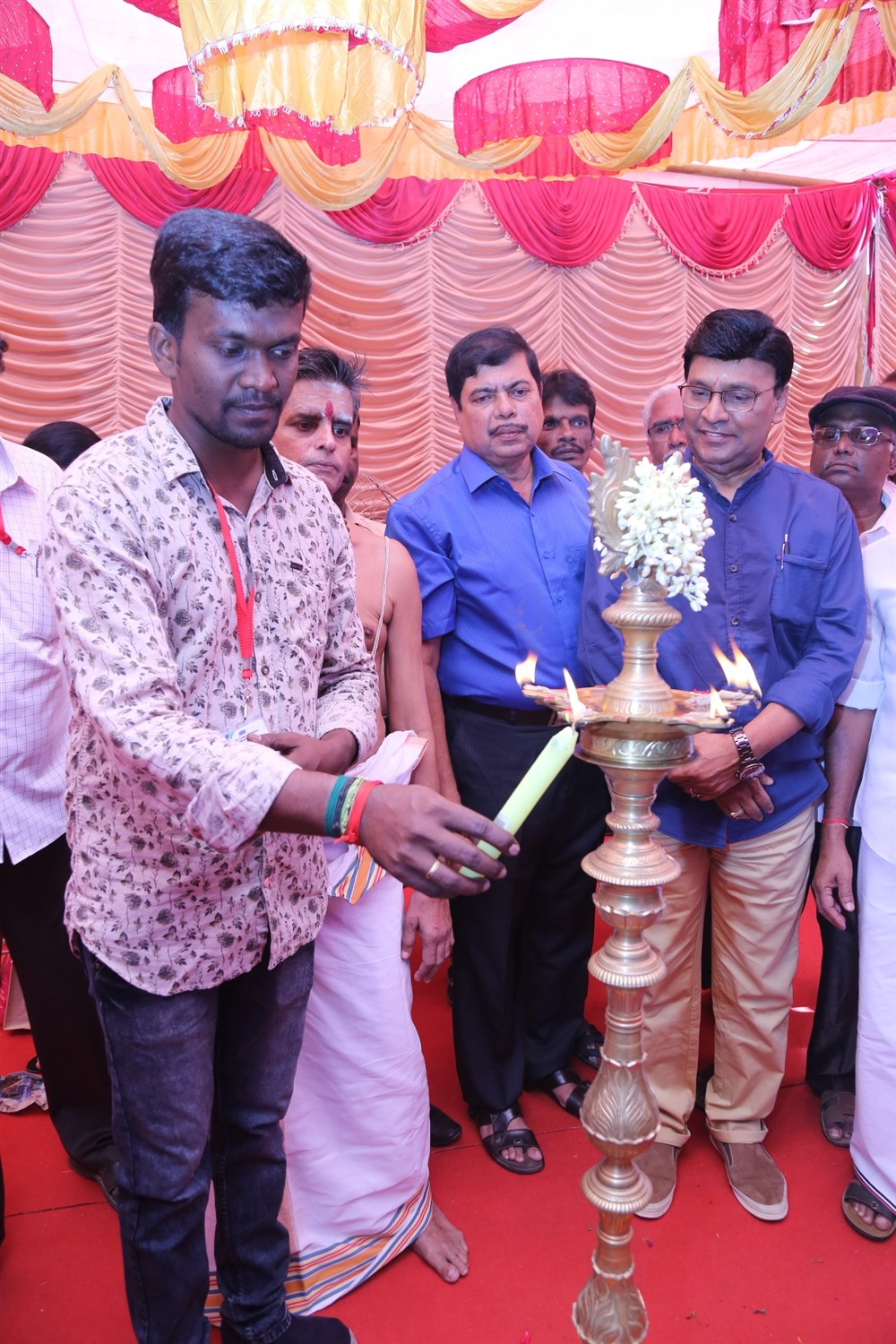 K Bhgyaraj @ Arjuna Movie Pooja Stills