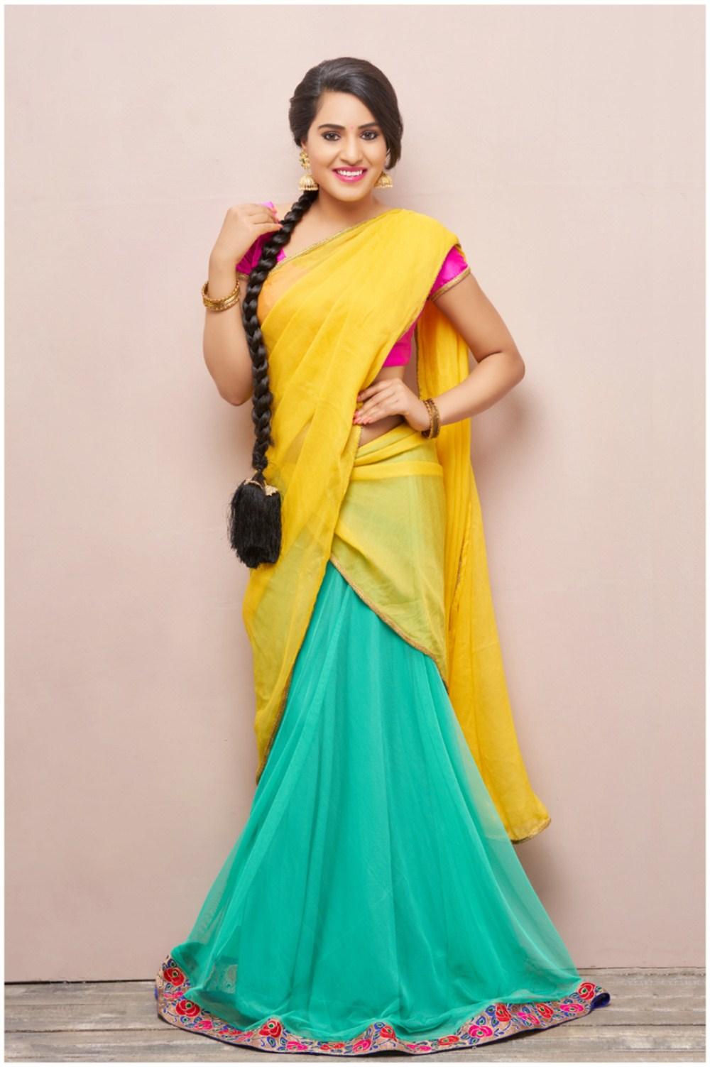 Actress Arshitha Half Saree Photo Shoot Images