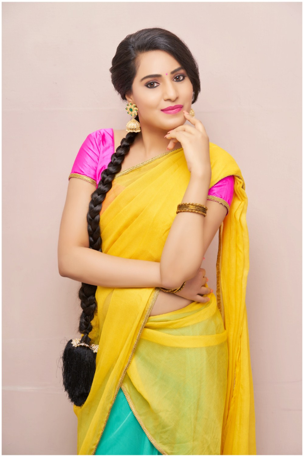 Actress Arshitha Half Saree Photo Shoot Images