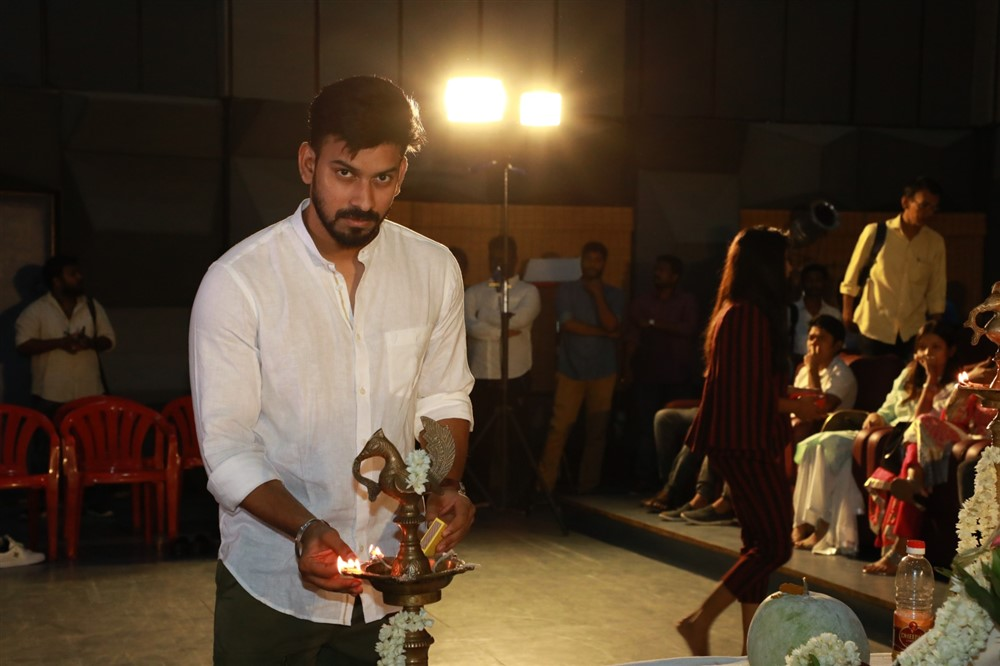 Director Santhosh P Jayakumar @ Arvind Swamy Movie Pooja Stills