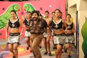 Actor T.Rajendar Dance in Arya Surya Movie Thagadu Thagadu Song Stills