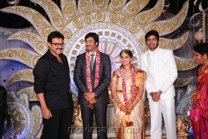Victory Venkatesh   Aryan Rajesh Wedding ReceptionVenkatesh Marriage Photos