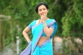 Telugu Actress Mayuri Hot in Blue Cotton Saree Stills