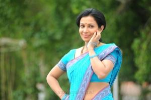 Actress Asha Saini Hot Blue Saree Pics