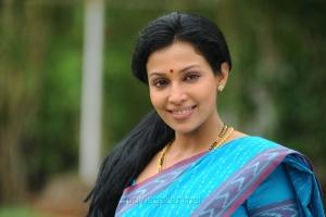 Asha Saini (Mayuri) Stills in Blue Cotton Saree