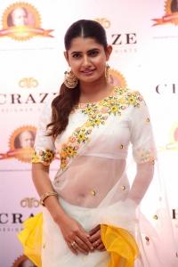 Actress Ashima Narwal Transparent White Saree Pics