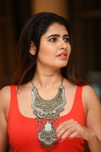 Kolaigaran Movie Actress Ashima Narwal Red Dress Images