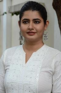 Sakala Gunabhi Rama Movie Actress Ashima Narwal White Dress Photos