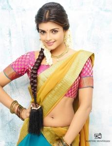 Actress Ashna Zaveri Hot Saree Photo Shoot Images