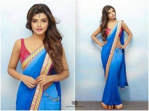 Actress Ashna Zaveri Saree Hot Photo Shoot Images