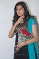 Ashritha Shetty in Black Crushed Salwar Kameez with short sleeves