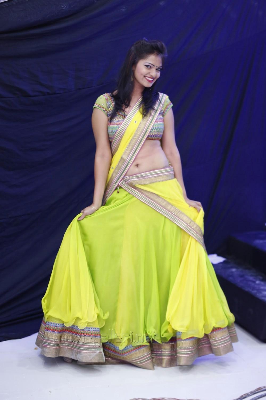 Picture 700124 Hyderabad Model Ashwi Hot In Yellow Langa