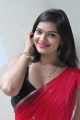 Actress Ashwi Hot Stills in Red Saree
