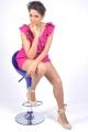 Telugu Actress Asmita Sood Photoshoot  in Pink Dress