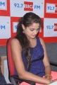 Asmita Sood Hot Stills in Dark Blue Sleeveless T-Shirt