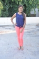 Actress Asmita Sood Stills in Blue Sleeveless T-Shirt & Light Red Pant
