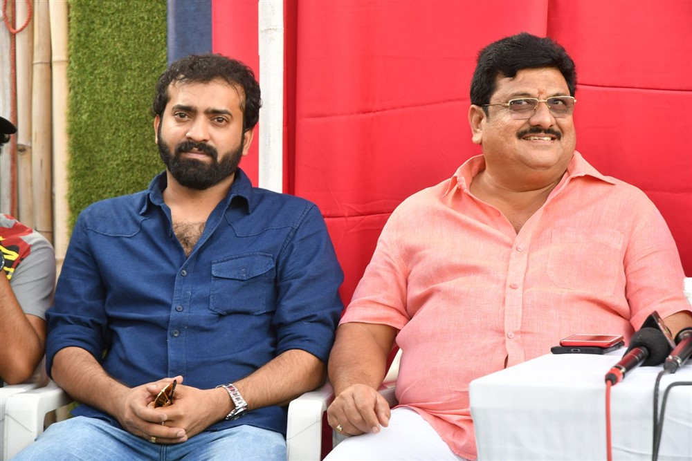 Sricharan Pakala, Shankar Prasad Mulpuri @ Aswathama Movie Release Date Announcement Stills