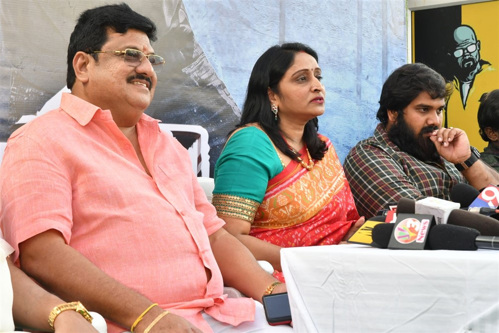 Shankar Prasad, Usha Mulpuri @ Aswathama Movie Release Date Announcement Stills