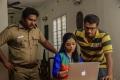 Bala Saravanan, Janani Iyer, Kalaiyarasan in Athey Kangal Movie Stills