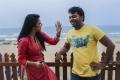 Janani Iyer, Kalaiyarasan in Athey Kangal Movie Stills