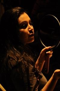 Actress Varsha K Pandey at Athiyayam Movie Shooting Spot Photos