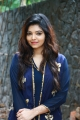 Actress Athulya in Dark Blue Dress Images