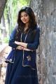 Actress Athulya Ravi Latest Images in Dark Blue Dress