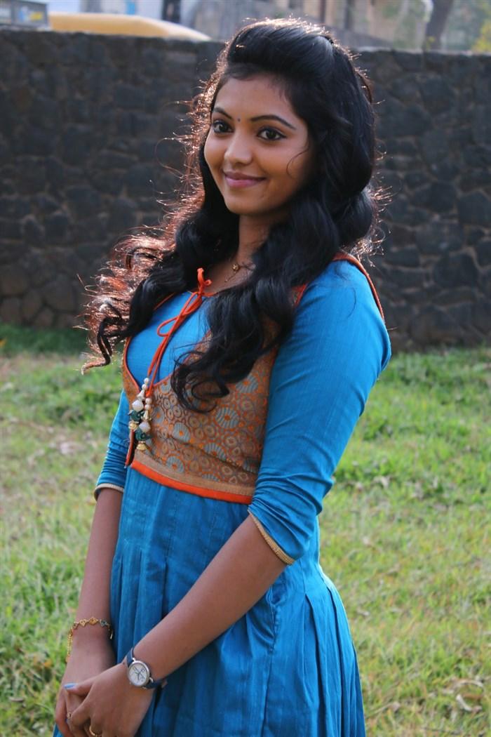 Tamil Actress Athulya Ravi Photos in Blue Dress