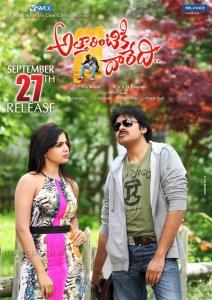 Samantha, Pawan Kalyan in Attarintiki Daredi Movie Release Posters