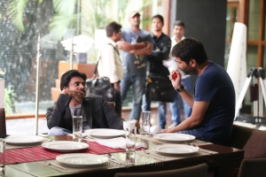 Pawan Kalyan, Trivikram Srinivas at Attarintiki Daredi Movie Working Stills