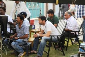 Trivikram Srinivas, BVSN Prasad at Attarintiki Daredi Movie Working Stills