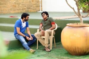 Trivikram Srinivas, Pawan Kalyan at Attarintiki Daredi Movie Working Stills