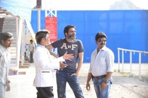 Trivikram Srinivas, Prasad Murella at Attarintiki Daredi Movie Working Stills